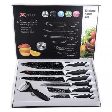 סט 6 סכיני חיתוך + קולפן